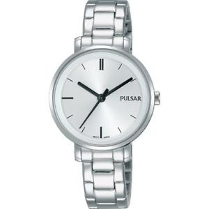【送料無料】pulsar womens 30mm steel bracelet amp; case quartz analog watch ph8337x1