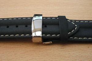 【送料無料】deployment clasp ssteel convert leather straps