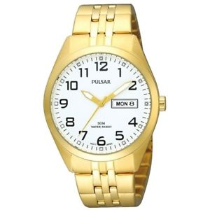 【送料無料】 pulsar gents gold plated watch pv3006x1