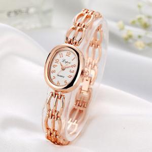 【送料無料】lvpai watches women fashion bracelet watch ellipse luxury rose gold watch wo