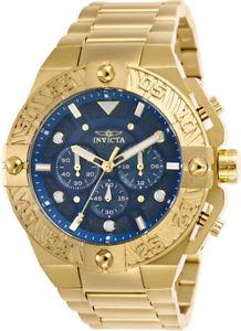 【送料無料】invicta mens pro diver chrono 100m goldplated stainless steel watch 25829