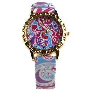【送料無料】watch with patterned strap guaranteed spare battery free uk pamp;pcg0104