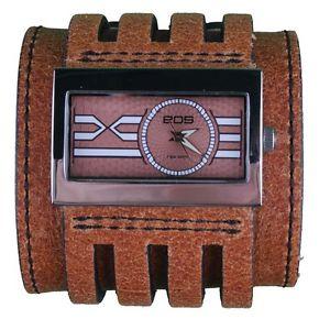 【送料無料】eos caseology brown leather metro wrist watch