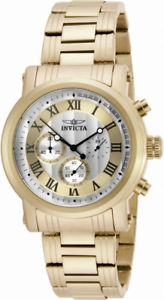 【送料無料】invicta specialty 15216 mens roman numeral chronograph gold amp; silver tone watch