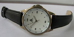 【送料無料】axxents quartz watch with leather strap