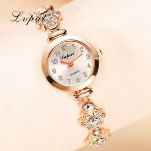 【送料無料】lvpai fashion watch women luxury rose gold bracelets wristwatch crystal quar