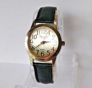 【送料無料】ladies precision by gruen gp440l silver tone quartz watch 0186