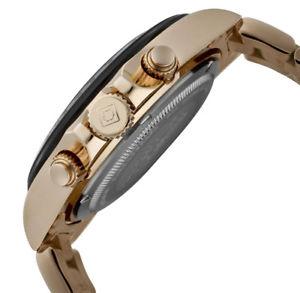 invicta 10705 mens speedway rose gold steel chrono dive watch