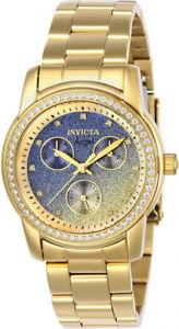 【送料無料】invicta womens angel quartz chrono gold tone stainless steel watch 23822