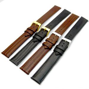 【送料無料】extra long xl leather watch strap lizard grain flat profile16mm 18mm 20mm d017