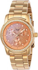【送料無料】invicta womens angel quartz chrono rose gold tone stainless steel watch 23823
