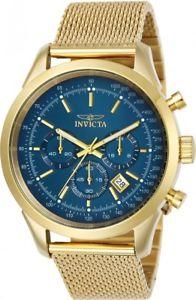 【送料無料】invicta mens speedway quartz chronograph gold tone s steel 100m watch 25224