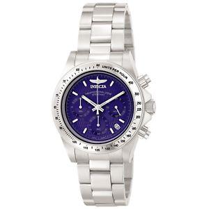 【送料無料】invicta 9329 mens speedway 200 meter wr steel chrono watch