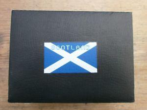 【送料無料】watch, cuff links and tie pin set scotland logo