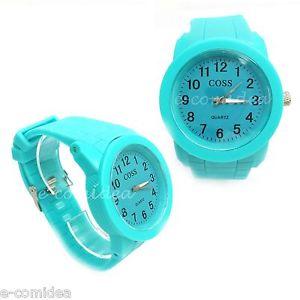 【送料無料】orologio sport coss silicone gomma movimento quarzo azzurro