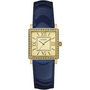 【送料無料】orologio donna guess highline w0829l5 vera pelle blu gold dorato swarovski