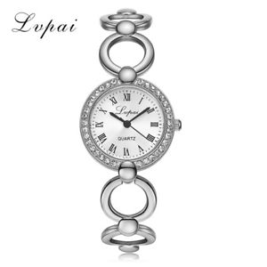 【送料無料】lvpai gold plated bracelet watches women luxury crystal dress fashion wristw