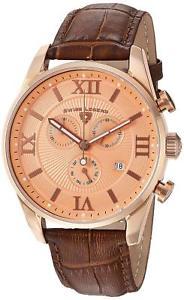 【送料無料】swiss legend 22011rg09rabrn brown leather strap mens quartz watch