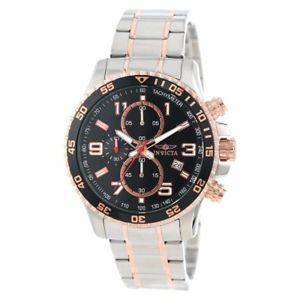 【送料無料】invicta 14877 mens two tone rose gold bracelet chrono watch
