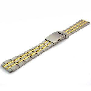 【送料無料】folding deployment watch bracelet stainless steel mens 2tone 18mm bl06
