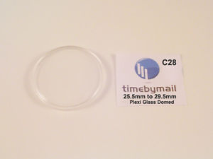 replacement plastic watch crystal domed dome plexiglass 255mm  295mm c28