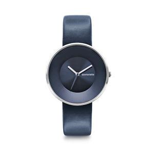 【送料無料】lambretta cielo 34 blue navy quarzo acciaio inox blu pelle donna orologio