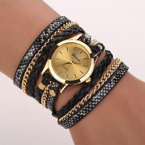 【送料無料】leopard watch leather bracelet multiple colors available