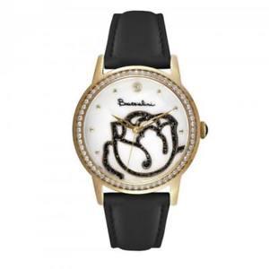 【送料無料】orologio donna braccialini brd 809s1bn pelle nero gold dorato bianco