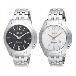 【送料無料】orologio uomo liu jo luxury bionic bracciale acciaio nero silver ros classico