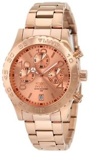 【送料無料】invicta 1271 mens rose gold tone ip stainless steel chrono watch