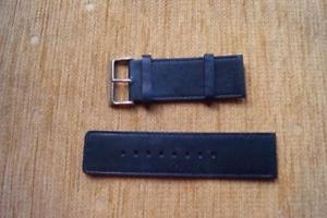 【送料無料】 dark blue leather ted baker watch strap 28mm