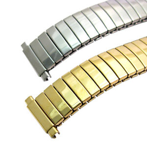 【送料無料】replacement expanding watch bracelet stainless steel ladies size 10mm15mm c078