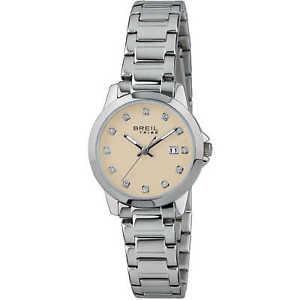 【送料無料】orologio breil tribe classic elegance donna ew0407 watch nuovo oro zirconi data
