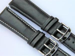 【送料無料】classic styling smooth semimatt genuine calf leather padded watch strap