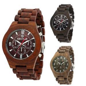 【送料無料】*mistery gift* orologio uomo sector nature legno multifunzione bracciale marrone