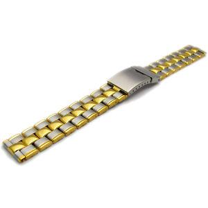 【送料無料】folding deployment watch bracelet stainless steel mens 2tone 18mm bl02