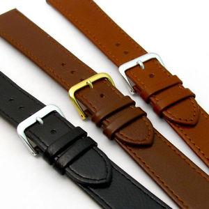【送料無料】comfortable flexible leather watch strap buffalo grain 16mm 22mm 3 colours