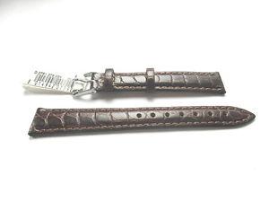 【送料無料】morellato brown croc grain leather watch strap 14mm