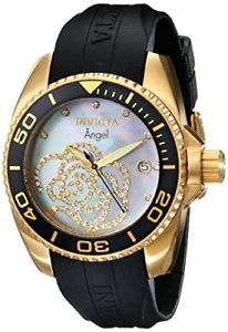 【送料無料】invicta womens 0489 angel collection cubic zirconia accented polyurethane watch