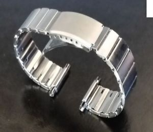 【送料無料】mens stainless steel silver watch straps bracelets flexi expanding 1620mm strap