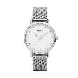 【送料無料】cluse cl18301 womens pavane stainless steel crystal watch
