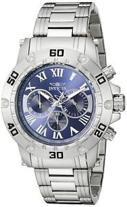【送料無料】invicta mens 19697 specialty analog display quartz silver watch
