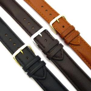 【送料無料】stylish halfpadded watch strap calf leather buffalo grain 18mm 22mm c012