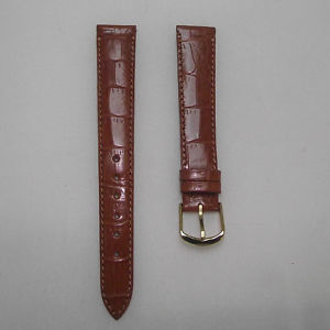 【送料無料】cinturino pelle stampa coccodrillo colore miele ansa 16 fibbia dorata b71