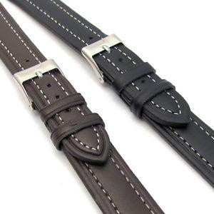 【送料無料】lightly padded xl leather watch strap contrast stitched 16mm 18mm 20mm c010
