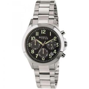 【送料無料】orologio uomo breil tribe choice ew0297 chrono nero bracciale acciaio 50mt