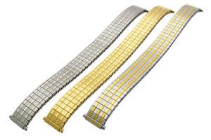 【送料無料】replacement expanding watch bracelet stainless steel 3 colours 15mm 19mm c074