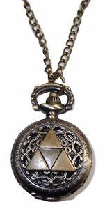 【送料無料】zelda tri force crest pendant watch on 30 chain