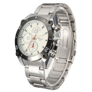 【送料無料】men women casual stainless steel strap analog watch