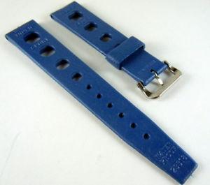 【送料無料】anni 60 cinturino tropic sport mai usato perfetto blu navy da 18 mm